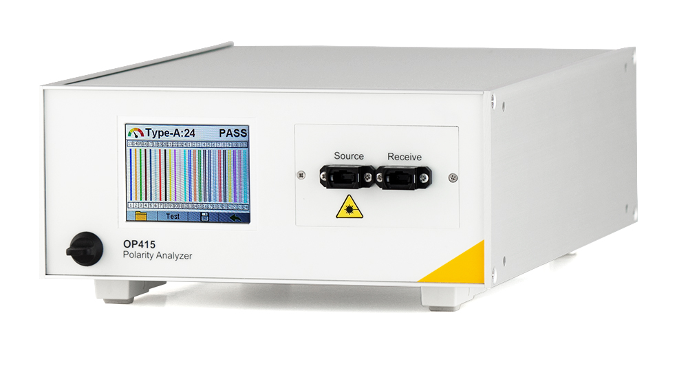 Photo of OP415 MTP/MPO Polarity Testing Benchtop Tester
