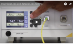 Video image of Insertion Loss and Return Loss testing