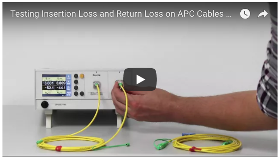 Testing Insertion Loss and Return Loss on APC Cables Using APC Reference Feature video image