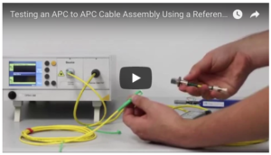 testing an APC to APC cable assembly using a reference reflector cable image