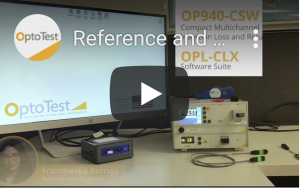 OPL CLX Reference and Test Insertion Loss and Retun Loss on Simplex DUT