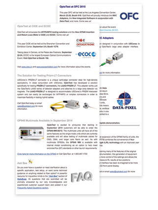 Fiber Optic Testing Newsletter