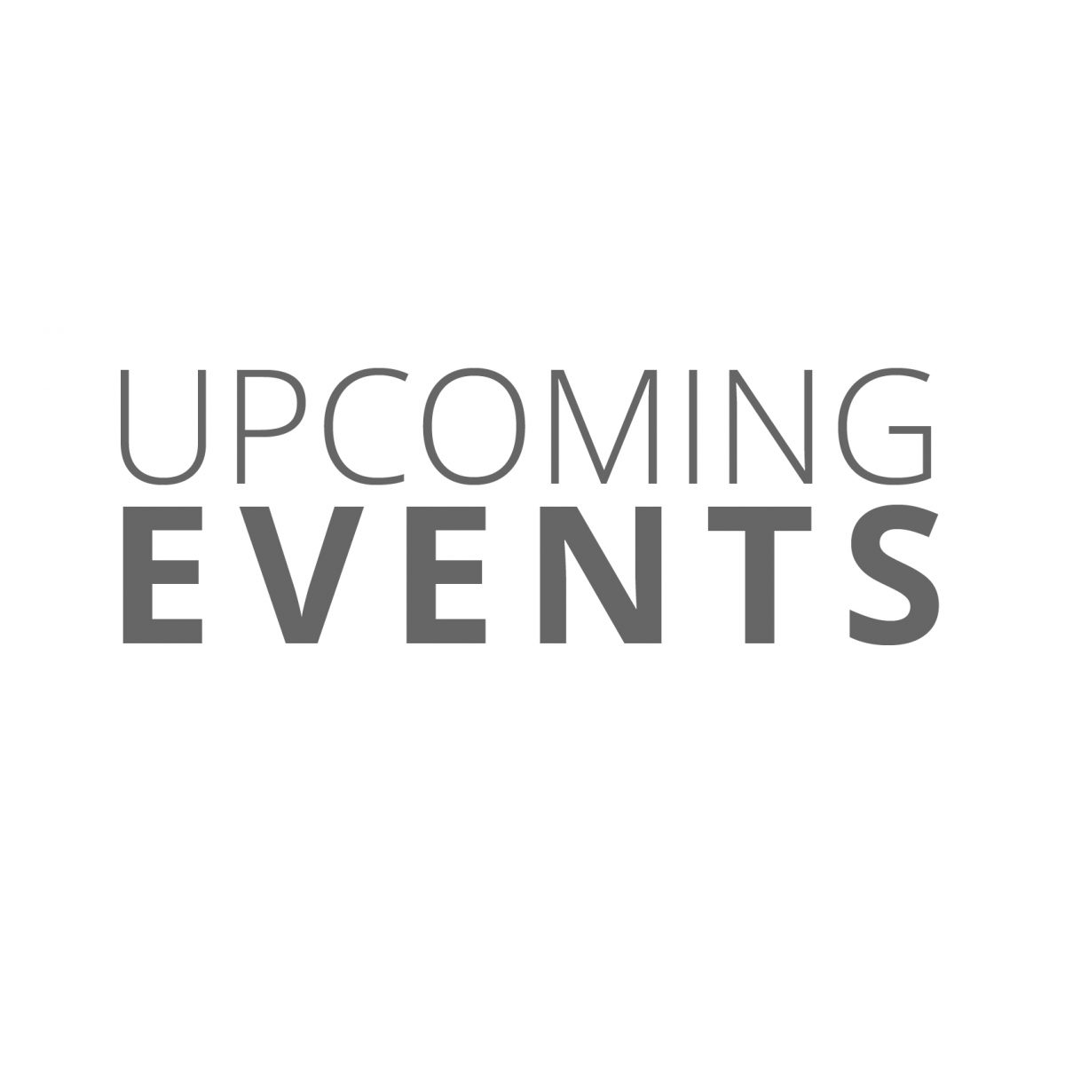 Upcoming Events header