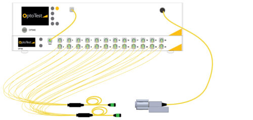 MPO Testing 2 Fiber Optic Cables with OP940+OP720 for ORL